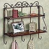 Artesia Wall Shelf with 2 Shelves (Brown)