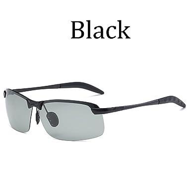 0c0bb82036 Photochromic Sunglasses Mens Polarized Eyewear Transition Lens Driving  Glasses (Black)