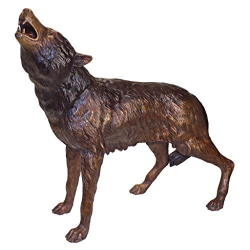 The Howl of the Wild Bronze Wolf Statue