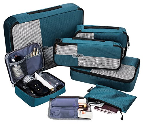 TripDock Various Packing Cubes 6 Set Lightweight Travel Luggage Organizers Only $14.99