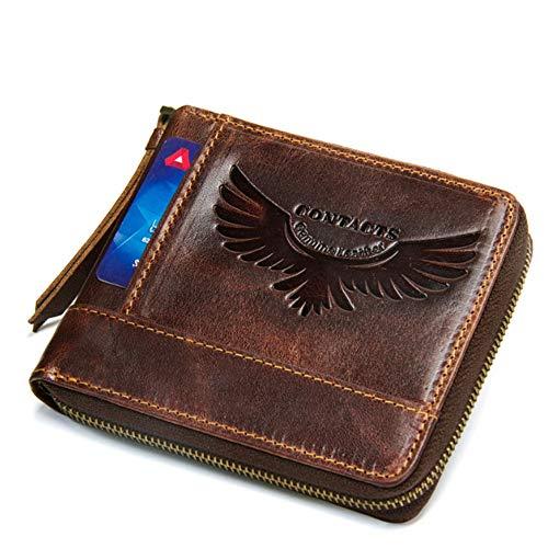 Hommes Size Porte Brown En S color Pour Brown monnaie Cuir RqIqUv