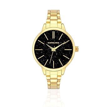 40135f7c762 Relógio Monte Carlo Feminino em Aço Dourado  Amazon.com.br  Amazon Moda