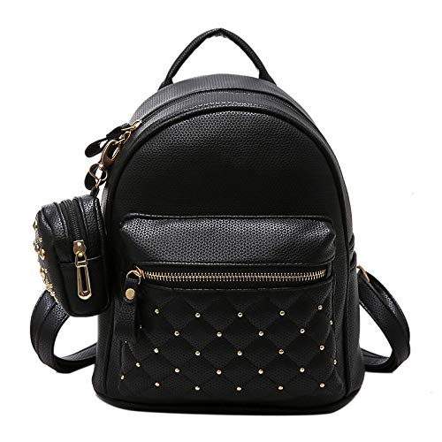 Tinta Ragazze Travel In Da Pu Carry Outdoor Sport Black On Per Unita Backpacking Stile Borsa Donna College Zaino Pelle A School q4XS47w6