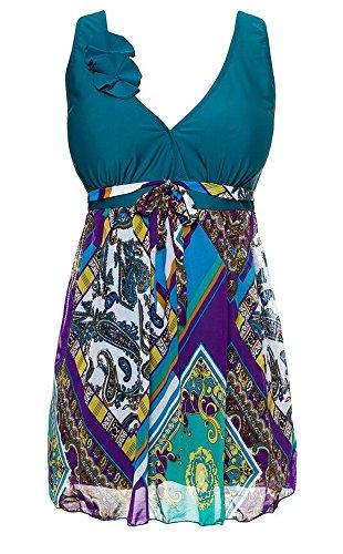 MiYang-Womens-Plus-Size-Printing-Padded-High-Waist-Swimdress