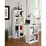 Avenue Greene White London Hobby Desk with 12 Rectangle Cubbies