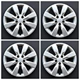 #10: MARROW New Wheel Covers Replacements Fits 2014-2018 Toyota Corolla ; 16 Inch; 8 Spoke; Silver Color; Plastic; Set Of 4; Standard Leg
