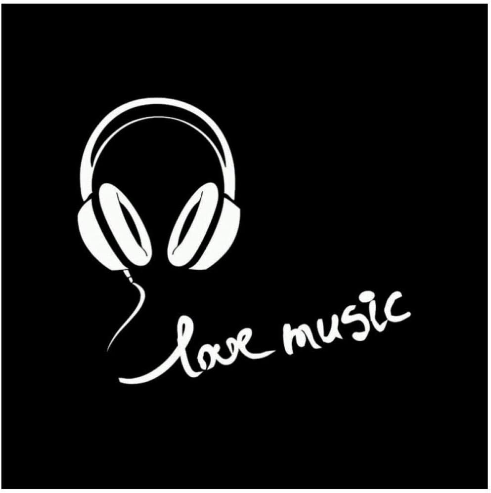 NMW Art Wallpaper, 12.3Cm * 10.6Cm Auriculares De Moda Love Music ...