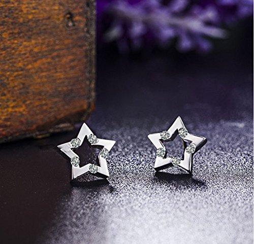 FindOut sterling boucles d'oreilles étoiles d'argent (f1518);. taille 10mm x 10mm