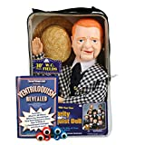 ThrowThings.com Bonus Bundle! W.C. Fields Ventriloquist Dummy Doll PLUS Ventriloquism Revealed Booklet PLUS Two Finger gEyes