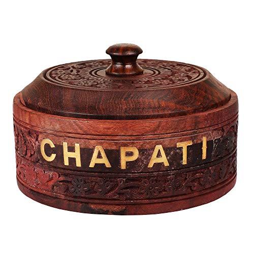 Rolimoli Wooden Chapati Box Casserole Finish Kitchen Home Decor Ideal