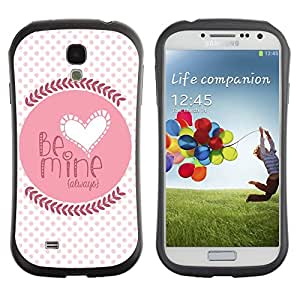 Suave TPU GEL Carcasa Funda Silicona Blando Estuche Caso de protección (para) Samsung Galaxy S4 I9500 / CECELL Phone case / / Quote Love Lover Girlfriend Polka Dot /