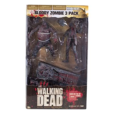 McFarlane Toys The Walking Dead TV: Bloody Black and White Zombie, 3 Pack by McFarlane Toys