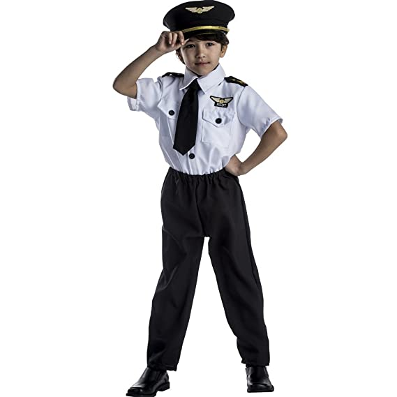 Deluxe Childrens Pilot Costume Set - Large