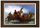 Eliteart- Washington Crossing the Delaware By Emanuel Gottlieb Leutze Oil Painting Reproduction Giclee Wall Art Canvas Prints-Framed Size:26''x36''