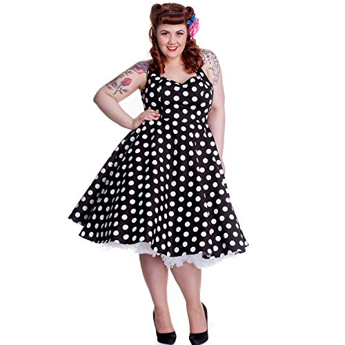 Hell-Bunny-50s-Black-and-White-Polka-Dot-Plus-Size-Halter-Pinup-Dress