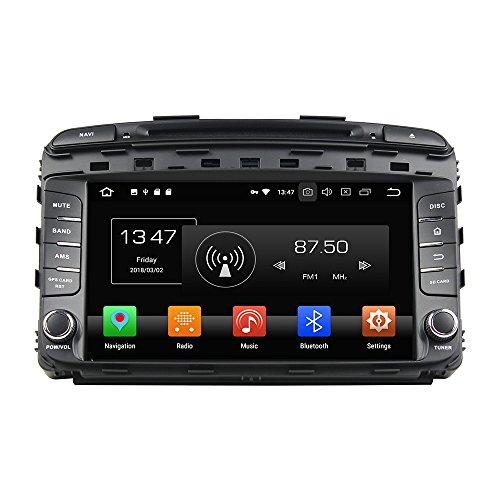 ZERTRAN Android 8.0 Otca Core 4GB RAM Autoradio DVD GPS Navigation Multimedia Player Car Stereo for KIA Sorento 2015 Radio Headunit Steering Wheel Control
