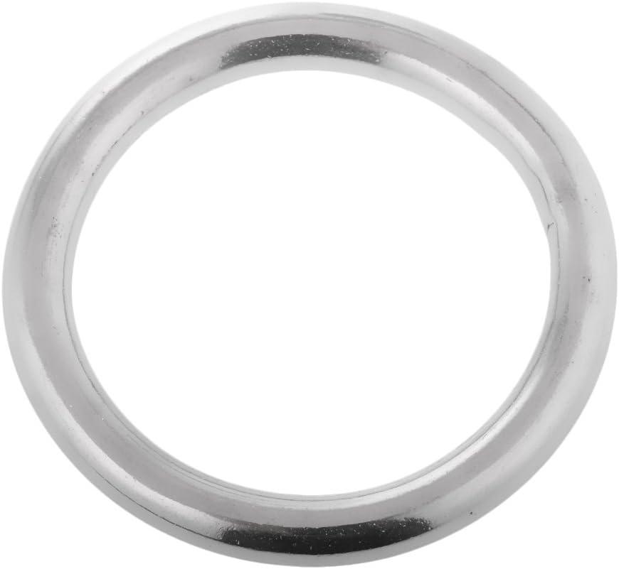 Edelstahlring Stahlring Metallring Rundring 2-teiliges Pack 10x80mm Gr/ö/ßen Auswahl