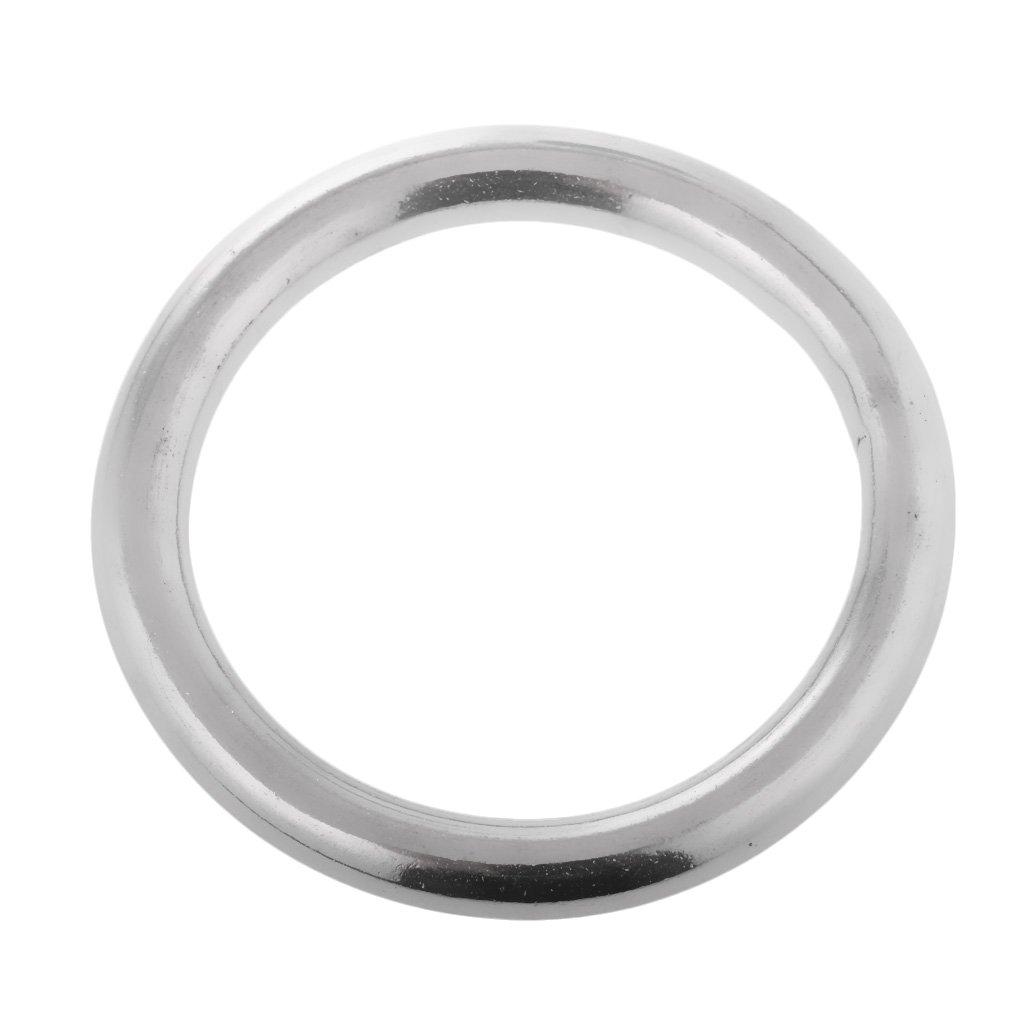 5 KESOTO Edelstahl Rundringe metall O-Ringe,viele Gr/ö/ße Auswahl 30mm