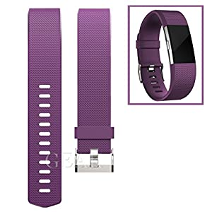 Replacement Bands for Fitbit Charge 2, Fitbit Charge2 Wristbands,Large,Plum
