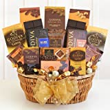 California Delicious Godiva Chocolate Gift Basket Deluxe