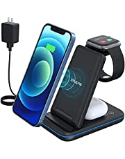 iPhone Wireless Charger Stand,QI Fast Charging Station, Apple Wireless Charging Dock for iPhone 13/12/11/11pro/11pro Max/X/XS/XR/Xs Max/8/8 Plus, Samsung,Apple Watch Series, AirPods 2/Pro