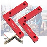 90 Degree Positioning Squares 4.7'' x 4.7'' Right Angle Clamps Woodworking Carpenter Tool Corner Clamping Square Aluminium Alloy Pack of 2