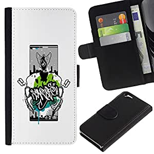 KingStore / Leather Etui en cuir / Apple Iphone 6 / Resumen Graphiti