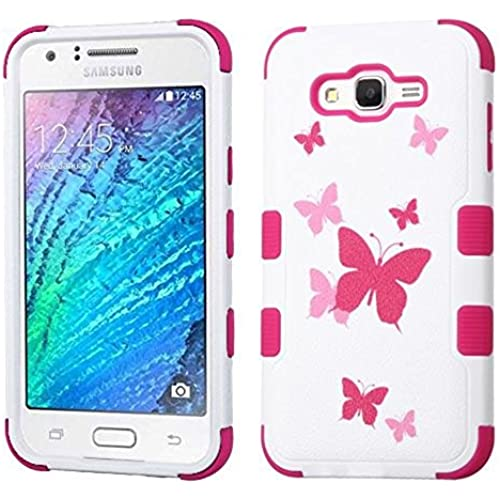 MyBat Cell Phone Case for Samsung Galaxy S7 - Butterfly Dancing/Hot Pink Sales