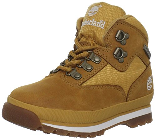 Timberland Euro Hiker Leather and Fabric Boot (Toddler/Little Kid/Big Kid),Black,2.5 M US Little Kid