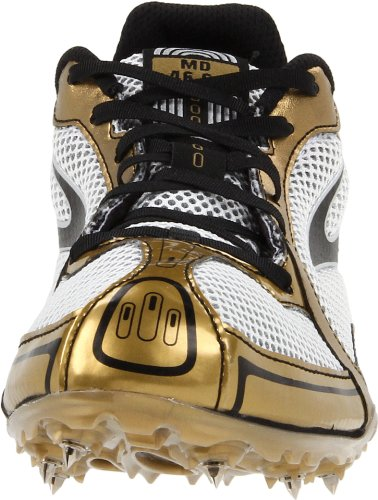 Brooks Mens PR MD Track Shoe Gold/Silver/Black/White 6BNCbY8Q