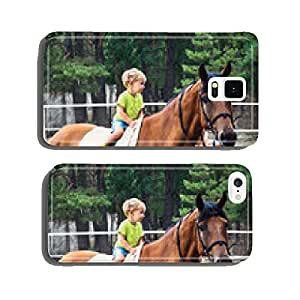 Two year boy drive astride horse cell phone cover case Samsung S5