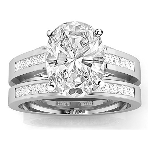 1 28 Carat Gia Certified Oval Cut 14k White Gold Channel Set