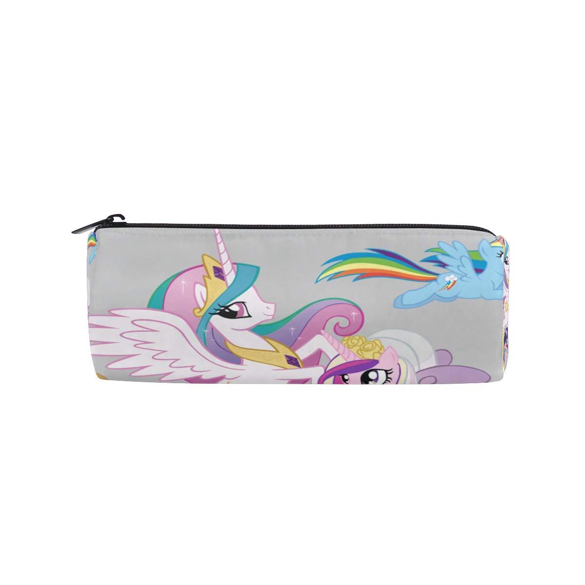Pencil Pouch My Little Pony Unicorn Family Zipit Cute Pencil Cases School Pen Organizer Holder Womens Makeup Bag