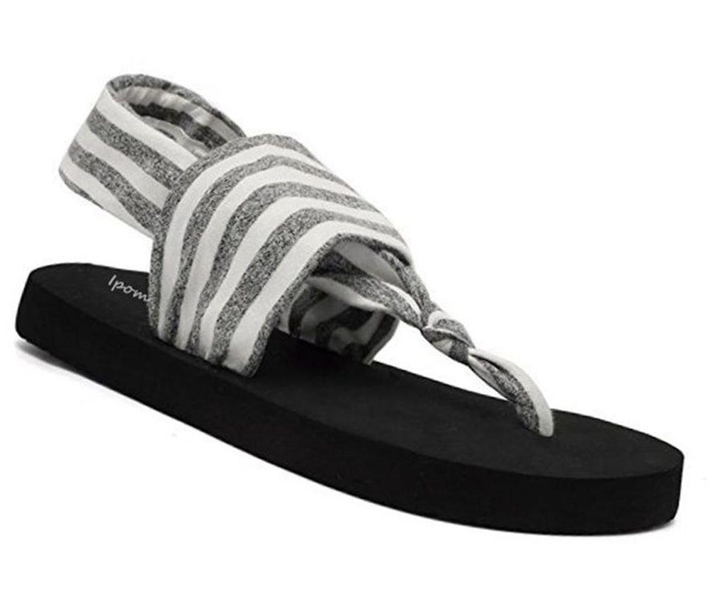 SOSUSHOE Womens Yoga Sling Flip Flop Flats Sandals