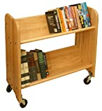 Catskill Craftsmen Rol-Rack with Tilted Shelves, Natural Oak Grain