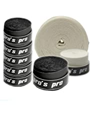 10 Griffbänder Pro's Pro für Tennis, Badminton, Squash (schwarz)