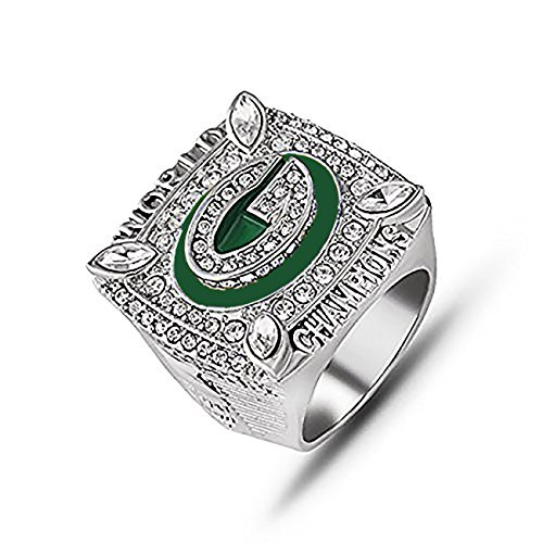 GF-sports store Replica Championship Ring 2010 Green Bay Packers Gift Fashion Ring ()