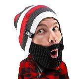 Beard Head Stubble Cruiser Beard Beanie - Funny Knit Hat and Fake Beard Facemask Black