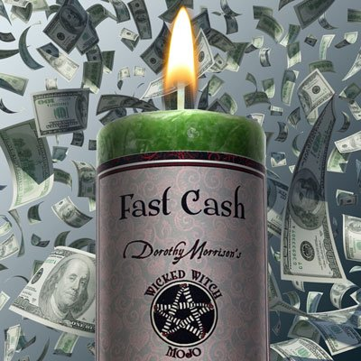 "Wicked Witch Mojo ""Fast Cash"" Candle by Dorothy Morrison"