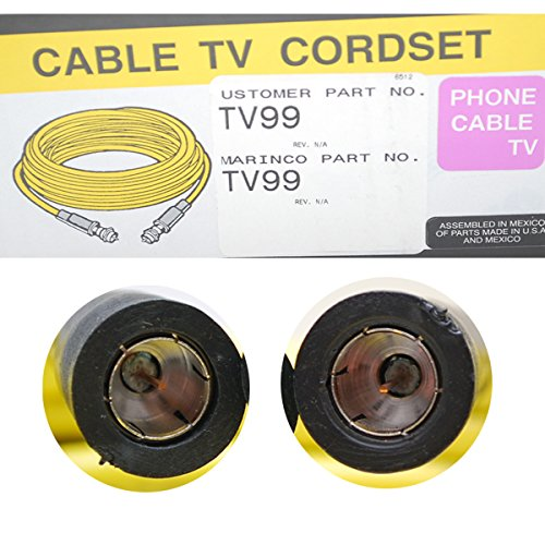 Hubbell Wiring Systems TV99 Ship-To-Shore TV Cable Set, 50' Length, Yellow Jacketed