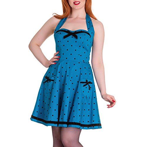 hell bunny blue polka dot dress - 7