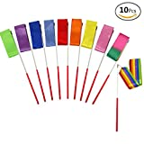 JUSLIN 10 Pieces 4m Rhythmic Gymnastic Ribbons Dance Ribbon Dance Streamers for Kids, Baton Twirling, Assorted Colors
