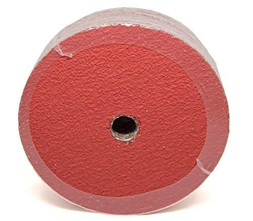7'' x 7/8'' Premium 24 Grit Ceramic Resin Fiber Discs - 25 Pack