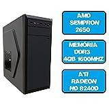 CPU Pc Computador Gamer Sempron Dual Core 2650 4gb Ati Radeon HD 8240d