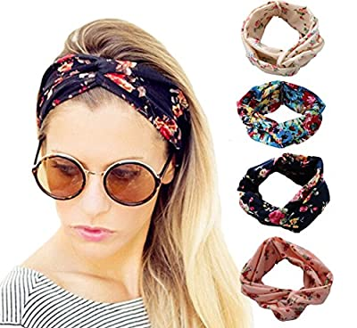 DRESHOW 1950's Vintage Modern Style Elastic Women Turban Headbands Twisted