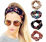 DRESHOW 1950\'s Vintage Style Elastic Women Turban Headbands Twisted Cute Hair Band Accessories