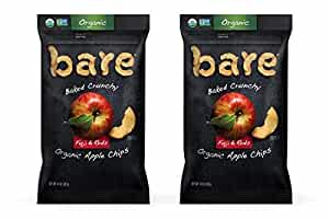 Bare Organic Apple Chips, Fuji & Reds, Gluten Free + Baked, Family Size Bag - 14 Oz (2 Count)