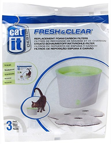 Clear Replacement Foam - Catit Carbon Replacement Foam Filter Cartridge for Fresh & Clear Fountain