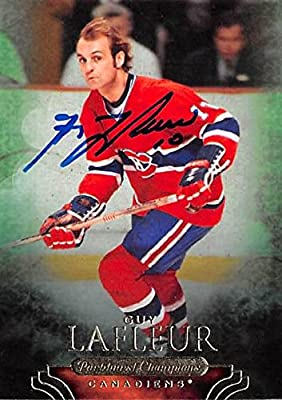 Guy Lafleur autographed Hockey Card (Montreal Canadiens) 2011 Upper Deck Parkhurst Champions #9
