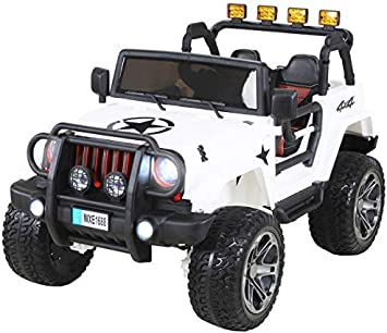 Actionbikes Coche Electrico Para Nino Jeep Wrangler 2 Plazas 24 V